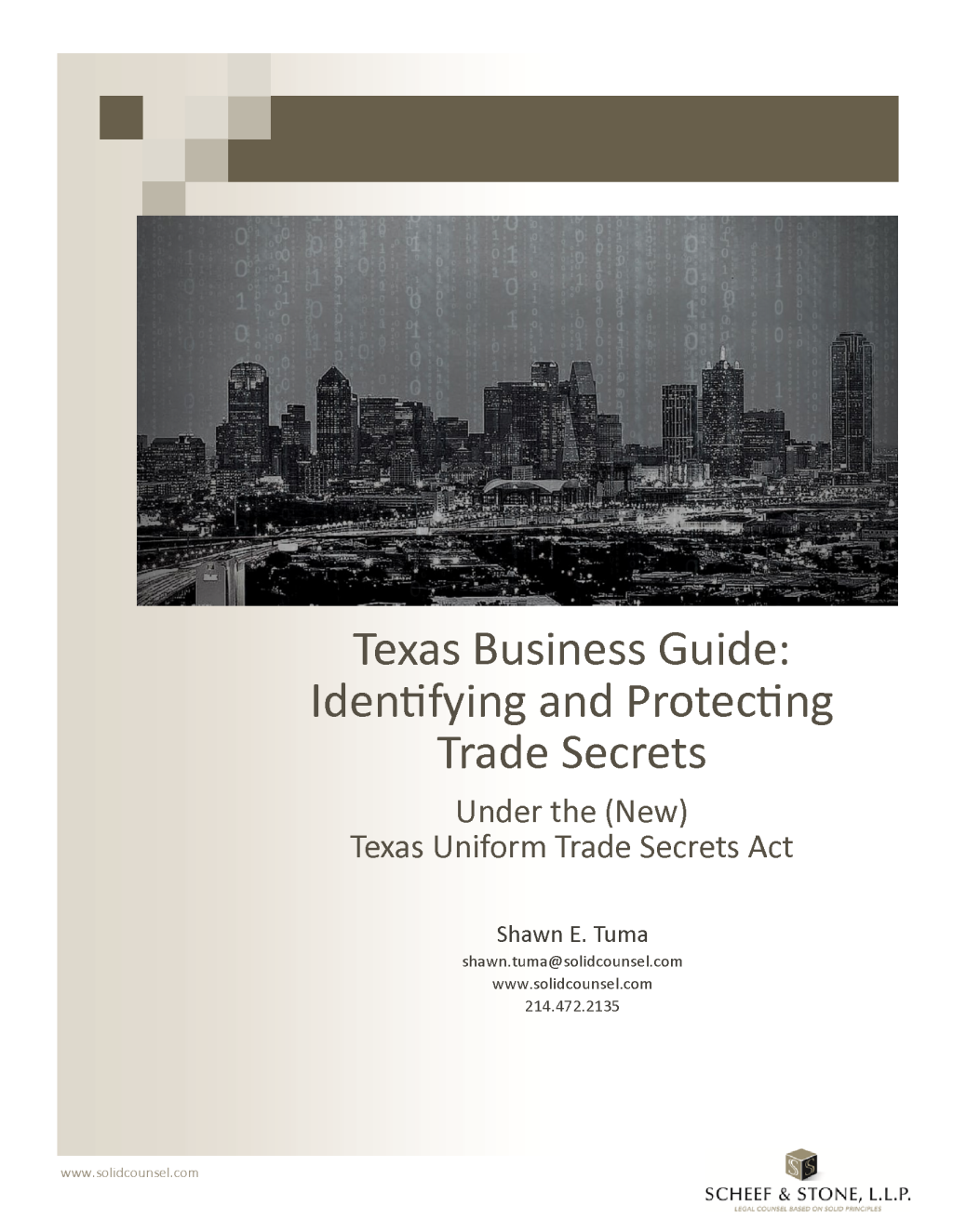 Texas Business Guide for Identifying and Protecting Trade Secrets - Cover