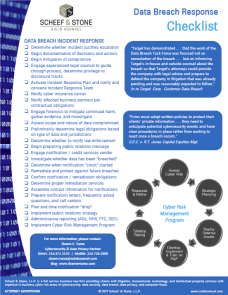 Data Breach Response Checklist